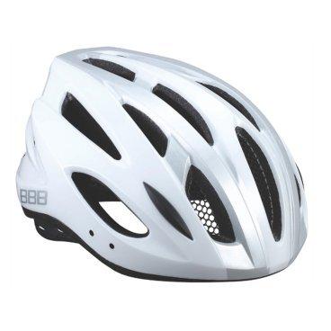 Велошлем BBB Condor, шоссе/МТБ, белый/серебро, L (58-61,5 см), BHE-35