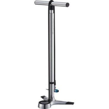 Насос напольный Merida Big Gauge Hi-Polish Floor Pump (260 psi-18 bar), 1350 гр, серебро, 2274001634