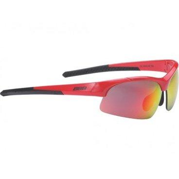 Очки BBB Impress Small  PC, сменные линзы желтые+прозрачные, мешочек, красные, BSG-48Велоочки<br>Солнцезащитные очки<br><br>-для людей с меньшим размером головы<br>-сменные поликарбонатные линзы<br>-Форма линз обеспечивает защиту от солнца, пыли и ветра<br>-100% защита от ультрафиолета<br>-Поликарбонатная оправа с регулируемой переносицей<br>-Мешочек для хранения в комплекте<br>-Дополнительные линзы в комплекте: желтая и прозрачная<br>
