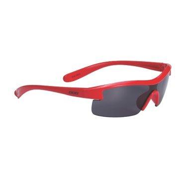 Очки BBB Kids PC, детские, дымные линзы, мешочек, красные, BSG-54Велоочки<br>Специальные детские очки небольшого размера.<br><br>Особенности:<br><br>- Прочная монолитная оправа из поликарбоната.<br>- Округлая форма линз обеспечивает защиту от солнца, пыли и ветра.<br>- 100% защита от ультрафиолета.<br>- Мешочек для хранения в комплекте.<br>
