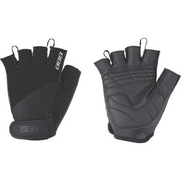 Перчатки велосипедные BBB Cooldown/Chase, унисекс, размер L, гелевые вставки, черный, BBW-49 перчатки велосипедные bbb chase цвет черный красный bbw 49 размер l