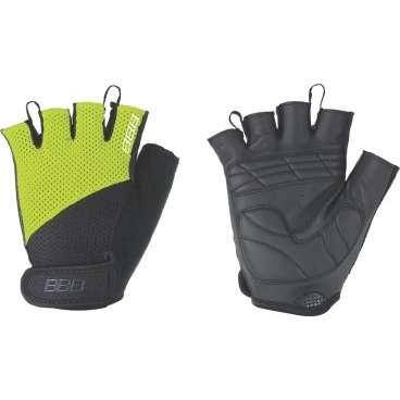 Перчатки велосипедные BBB Cooldown/Chase, унисекс, размер S, гелевые вставки, черный/желтый, BBW-49Велоперчатки<br>Легкие летние перчатки  для спортивного катания на горных велосипедах<br><br>-тыльная сторона изготовлена из сетчатого материала <br>-на ладони - искусственная кожа Serino с мягкими гелевыми вставками, гасящими вибрации от руля<br>-на запястьях перчатки фиксируются застежками велькро (система WristLock)<br>-между пальцами предусмотрены специальные петли, чтобы быстро снять перчатки <br>-в области большого пальца есть специальная вставка для стирания пота и влаги<br>
