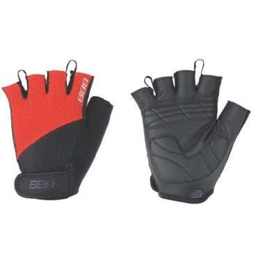 Перчатки велосипедные BBB Cooldown/Chase, унисекс, размер M, гелевые вставки, черный/красный, BBW-49Велоперчатки<br>Легкие летние перчатки  для спортивного катания на горных велосипедах<br><br>-тыльная сторона изготовлена из сетчатого материала <br>-на ладони - искусственная кожа Serino с мягкими гелевыми вставками, гасящими вибрации от руля<br>-на запястьях перчатки фиксируются застежками велькро (система WristLock)<br>-между пальцами предусмотрены специальные петли, чтобы быстро снять перчатки <br>-в области большого пальца есть специальная вставка для стирания пота и влаги<br>