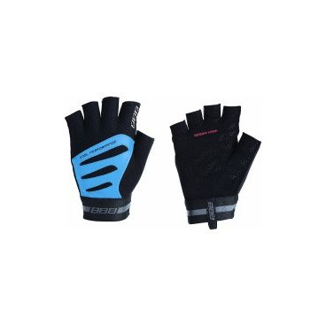 Перчатки велосипедные BBB Equipe, унисекс, размер M, эффект памяти, черный/синий, BBW-48Велоперчатки<br>Высокотехнологичные профессиональные велоперчатки<br><br>-Кожаная ладонь со вставками с эффектом памяти для максимального комфорта<br>-Вставка для удаления влаги/пота<br>-Петли между пальцами для легкого снятия перчаток<br>-Тыльная сторона из дышащей, эластичной лайкры и сетки обеспечивает комфорт и полную свободу движений<br>-Эластичные застежки велькро (Система WristLock)<br>