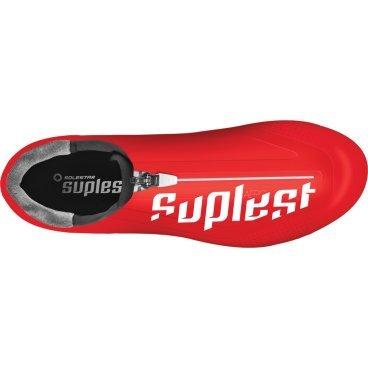 Велотуфли Suplest Road Aero Pro carbon, размер 42, красный, 01.046.42
