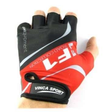 Перчатки велосипедные Vinca Sport, цвет черный с красным, размер ХS, VG 924 red (ХS)Велоперчатки<br>Отличные перчатки для повседневного катания. Перчатки помогают велосипедистам чувствовать себя комфортно при езде и защищают кожу рук от трения. На запястье перчатка фиксируется прочной липучкой.<br><br>Материал внешней стороны: лайкра<br>Материал тыльной стороны: искусственная замша<br>Наличие геля: гелевая вставка<br>