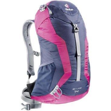 Велорюкзак Deuter AC Lite 14, 50х30х18, 14 л, чехол от дождя, розовый/синий, 34601_3503