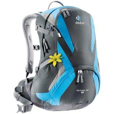Велосипедный рюкзак Deuter Futura SL 20, 48х30х19, 20 л, для женщин, черный/синий, 34194_4319