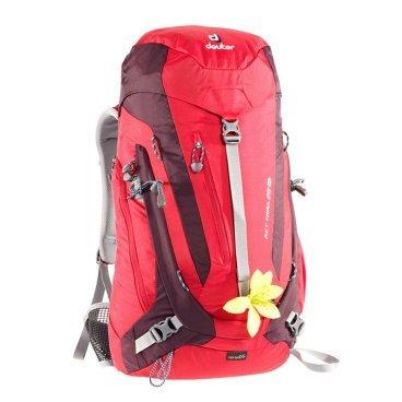 Велорюкзак Deuter ACT Trail 28 SL, для женщин, 60х28х21, 28 л, красный, 3440215_5513