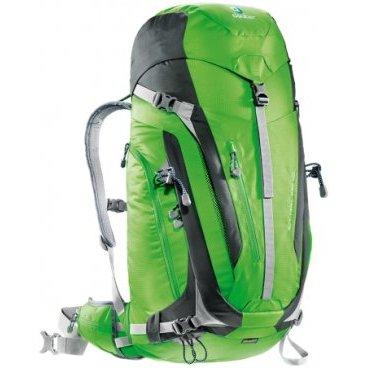 Велорюкзак Deuter ACT Trail PRO 40, съемный чехол от дождя, 70х31х25, 40 л, зеленый, 3441315_2431