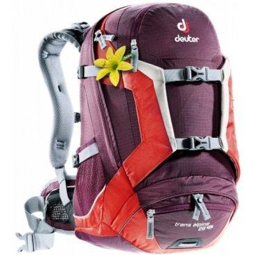Велосипедный рюкзак Deuter Trans Alpine 26 SL, женский, с чехлом, 48x26x22, 26 л, бордовый, 32213_55