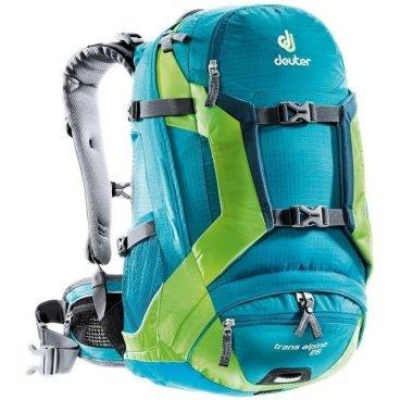 Велосипедный рюкзак Deuter Trans Alpine 25, с чехлом, 48x26x19, 25 л, голубой, 32203_3214 deuter alpine winter cruise 28 sl 2013