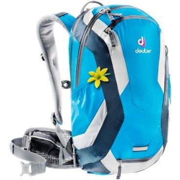 Велосипедный рюкзак Deuter Superbike 14 EXP SL, женский, с чехлом, 46x29x16, 14+4 л, голубой, 32104_ deuter giga blackberry dresscode