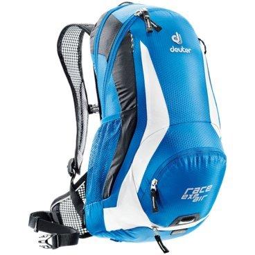 Велосипедный рюкзак Deuter Race EXP Air, с чехлом, 47х28х15, 12 л, голубой, 32133_3170