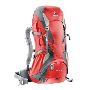 Велосипедный рюкзак Deuter Futura 32, отделение для мокрой одежды, 65х34х24, 32+4 л, красный, 32113