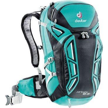 Рюкзак Deuter Attack 18 SL, женский, защита спины, 45х25х20, 18 л, бирюзовый, 3200116_2706