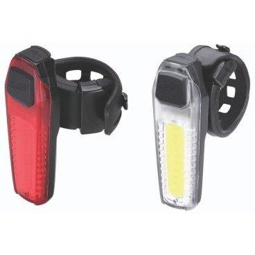 Комплект фонарей BBB SignalCombo, желтый+красный, светодиодные, подзарядка через USB, BLS-83