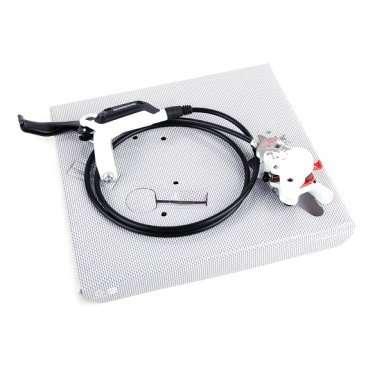 Тормоз дисковый гидравлический SHIMANO BR-M395L, задний, с тормозной ручкой  BL-M425L, AM425RRXRA170 тормозной набор механический дисковый задний cmd 21 clarks 3 448