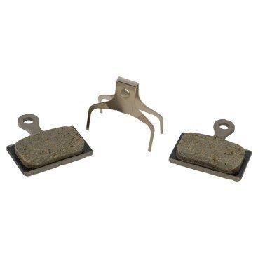 Тормозные колодки SHIMANO K02Ti, для дискового тормоза, полимерные, пружина, Y8PU98010 набор приспособлений для ввинчивания поршня цилиндра дискового тормоза с пневмоприводом force f 65815