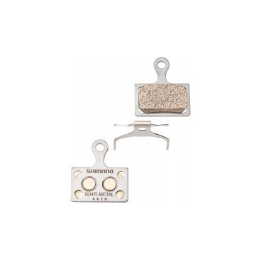 Тормозные колодки SHIMANO K04Ti, для дискового тормоза, метал, пружина, Y8PU98020Тормоза на велосипед<br>Тормозные колодки SHIMANO K04Ti, для дискового тормоза, метал, пружина<br>