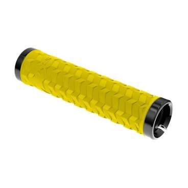 Грипсы KELLYS KLS POISON, 135 мм, 2 грипстопа, пластиковые заглушки, желтый цена
