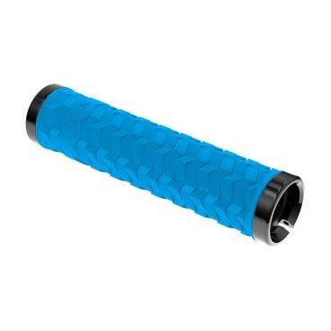 Грипсы KELLYS KLS POISON, 135 мм, 2 грипстопа, пластиковые заглушки, синий зимняя резина на оку в москве