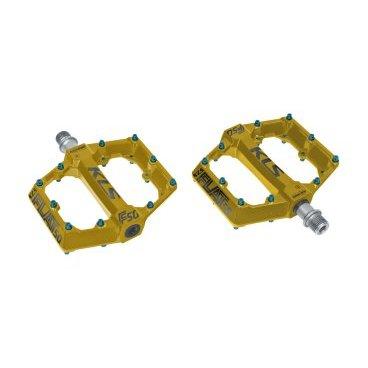 Педали KELLYS KLS FLAT 50 BB, промподшипники, запасные пины, 115х108 мм, 550 г, алюминий, желтыйПедали для велосипедов<br>Педали велосипедные KELLYS KLS FLAT 50 BB с запасными пинами<br>Ращмеры: 115х108 мм<br>Вес: 550 г<br>Материал: алюминий<br>Цвет: желтый<br>