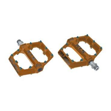 Педали KELLYS KLS FLAT 50 BB, промподшипники, запасные пины, 115х108 мм, 550 г, алюминий, оранжевыеПедали для велосипедов<br>Педали велосипедные KELLYS KLS FLAT 50 BB с запасными пинами<br>Ращмеры: 115х108 мм<br>Вес: 550 г<br>Материал: алюминий<br>Цвет: оранжевый<br>