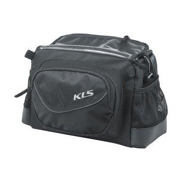Сумка велосипедная KELLYS LEAD, на руль, 4 л, крепление на липучке, окошко для смартфона сумка на руль велосипедная kellys kb 703 объем 6л крепление быстросъёмное серебряно чёрная