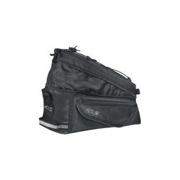 Сумка велосипедная KELLYS SPACE 15, на багажник, 15 л, черный сумка на руль велосипедная kellys kb 703 объем 6л крепление быстросъёмное серебряно чёрная