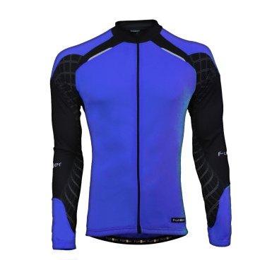 Велокуртка FunkierBike J-611-LW-Blue, сине-черная с молнией, размер L, 12-312, арт: 6937 - Велокуртка
