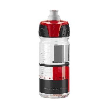 Фляга Elite Crystal Ombra, 0.75 л, дымчатый, красный рисунок, EL0150510  цена и фото