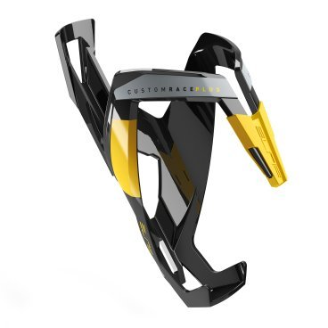 Флягодержатель Elite Custom Race Plus, черный, желтый рисунок, EL0140609