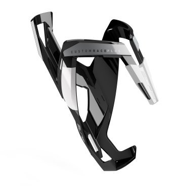 Флягодержатель Elite Custom Race Plus, черный матовый, белый рисунок, EL0061676 тележка для фляги в твери
