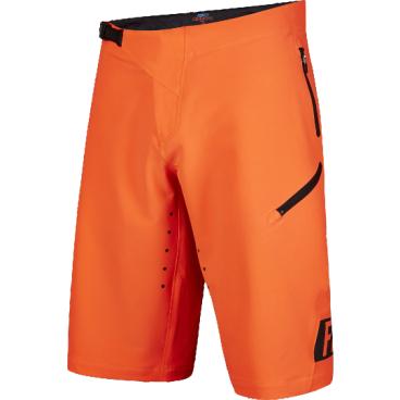 Велошорты Fox Demo Freeride Short Flow, Размер: М (W32), оранжевый, 16618-824-32Велошорты<br>Спортивные шорты от Fox Racing. Устойчивая к истиранию ткань, перфорированная лазером для улучшения вентиляции. Нижние манжеты надёжно прикрывают ноги и не мешают педалированию. Регулируемая передняя застёжка и боковые стяжки для идеальной подгонки. Карманы на молнии, выход для наушников. Свободный крой, гоночная расцветка.<br>