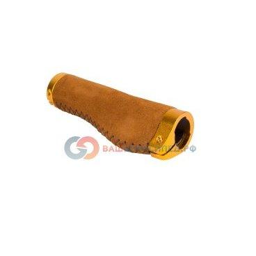 Ручки CLARK`S СLO221 на руль, замшевые, 134мм, эргономичные, 2 фиксатора, коричневые, 3-357