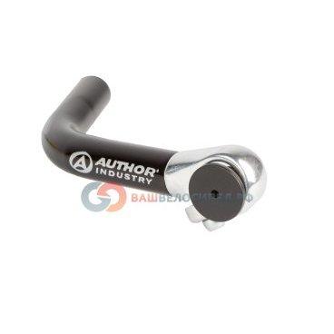 Рога для велосипеда Author алюминиевые длинные ABE-004 Blk изогнутые черные 8-33050001 рога для велосипеда m wave алюминиевые резиновые прямые короткие черные литые 5 408172