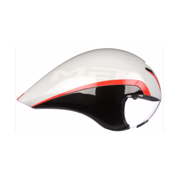 Велошлем MET Drone, бело-черно-красный