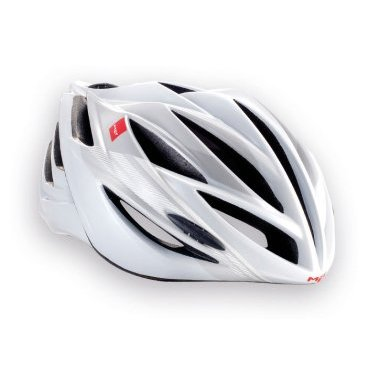 Велошлем MET Forte, бело-серый