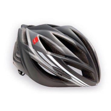 Велошлем MET Forte, серо-белыйВелошлемы<br>Классический шоссейный шлем, сочетающий в себе лёгкость, компактность и обтекаемую форму. Впаянный в жёсткий корпус пенопластовый внутренник обеспечивает высокую надёжность шлема и лучшую абсорбацию ударов. Фирменная система застёжек под названием Strong Fit легко регулируется и надёжно фиксирует шлем на голове.<br><br><br><br>ОСОБЕННОСТИ<br><br><br><br>Классический шоссейный шлем – лёгкий, надёжный и хорошо вентилируемый<br><br>Монолитная конструкция – пенопластовый внутренник впаян в жёсткий корпус шлема<br><br>Сменные внутренние накладки из гипоаллергенного материала<br><br>Фирменная система застёжек под названием Strong Fit<br><br>Вес: 245-300 граммов (в зависимости от размера)<br>