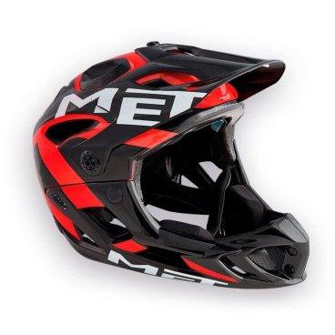 Велошлем MET Parachute, черно-красный