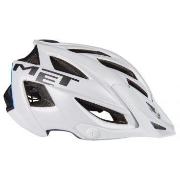 Велошлем MET Terra, матовый бело-черный