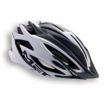 Велошлем MET Veleno, матовый бело-черный