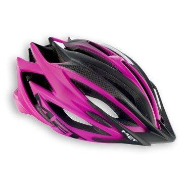 Велошлем MET Veleno, матовый розовый