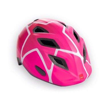 Велошлем детский MET Elfo Pink Stars, розовыйВелошлемы<br>Детские шлемы Met – это не просто уменьшенные копии взрослых моделей. Все они разработаны с учётом особенностей детской анатомии и некоторых специфических требований. Например, затылочная часть сделана почти вертикальной, чтобы ребёнку было удобно сидеть на детском сидении. Elfo – модель для самых маленьких, и её основное отличие от большинства аналогов состоит в том, что шлем ни при каких обстоятельствах не соприкасается с родничковыми костями черепа – самой уязвимой областью детской головы.<br><br><br><br>ОСОБЕННОСТИ<br><br><br><br>Шлем для самых маленьких, созданный с учётом особенностей детской анатомии<br><br>Вертикальная затылочная часть обеспечивает комфорт при поездках на детском сидении<br><br>Светоотражающая наклейка на задней части<br><br>Вес: 230 граммов<br>