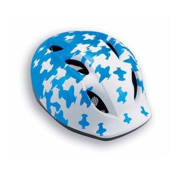 Велошлем детский MET Super Buddy, бело-синий