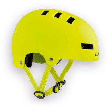 Велошлем детский MET Yo-Yo Safety, желтыйВелошлемы<br>Высококачественный детский шлем-котелок, который отлично подойдёт как для катания в BMX-парке, так и для передвижения по городу. Одноэлементный корпус данной модели выполнен из ударопрочного пластика ABS, а в комплекте со шлемом вы получаете два набора внутренних прокладок разной толщины. Такой шлем очень удобен, отлично выглядит и обеспечит ребёнку эффективную защиту.<br><br><br><br>ОСОБЕННОСТИ<br><br><br><br>Высококачественный детский шлем-котелок<br><br>Одноэлементный корпус из ударопрочного пластика ABS<br><br>В комплекте – два набора внутренних прокладок разной толщины<br><br>Удобная застёжка<br><br>Отвечает требованиям таких стандартов безопасности, как CE и AS/NZ<br>