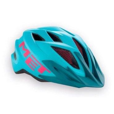 Велошлем подростковый MET Crackerjack, голубой