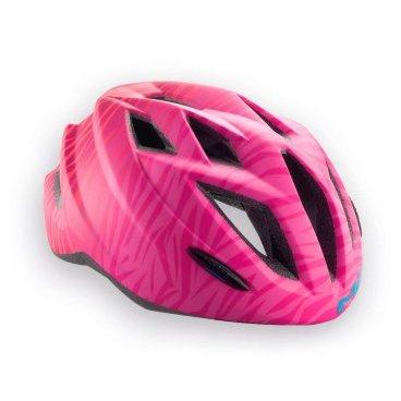 Велошлем подростковый MET Gamer Texture, розовый