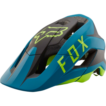 Козырек к шлему Fox Metah Flow Visor Teal, синий, пластик, 20307-176-OS